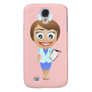 Happy Female Nurse Galaxy S4 Covers