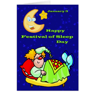 Happy Festival of Sleep Day January 3 Greeting Cards