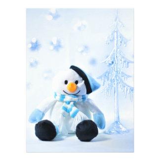 Happy festive snowman invitation