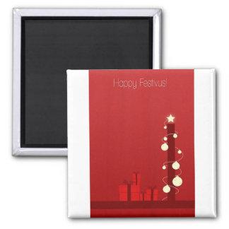 Happy Festivus 2 Inch Square Magnet