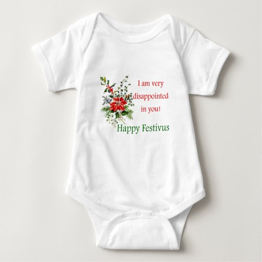 Happy Festivus humor funny disappointed in you Baby Bodysuit