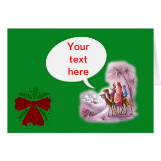 Happy Festivus with 3 wise men. Add your own text Card