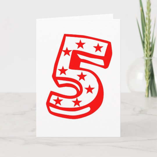Happy Fifth 5 Birthday Shirt Card
