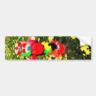 Happy Fire Hydrant Bumper Sticker