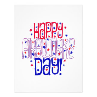 Happy Fireworks Day ! With Red White & Blue Stars Flyer