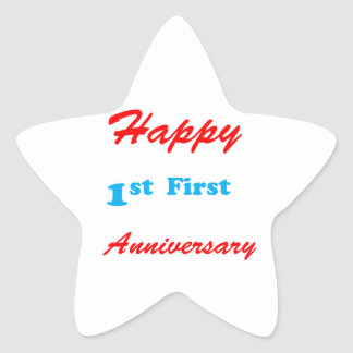 HAPPY First 1st ANNIVERSARY Blessings Celebrations Stickers