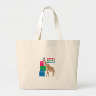 Happy First Birthday Canvas Bags