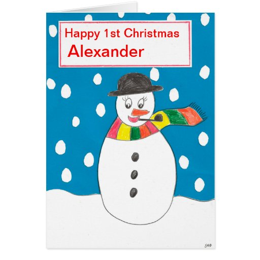 Happy First Christmas Alexander Greeting Card