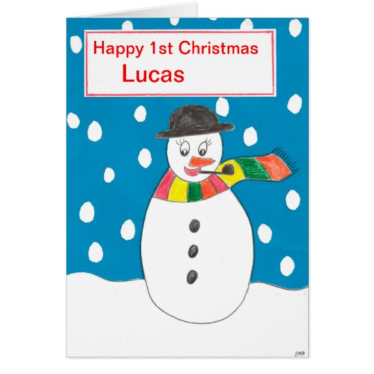 Happy First Christmas Lucas Card