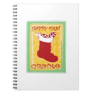 Happy First Christmas Spiral Note Book