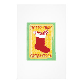 Happy First Christmas Customized Stationery