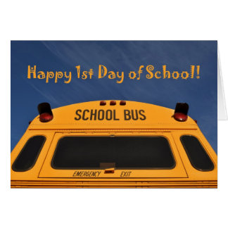 Happy First Day of School Bus Cards