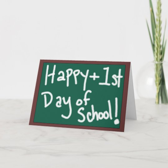 Happy first day of school chalkboard greeting card zazzle happy first day of school chalkboard greeting card m4hsunfo