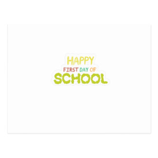 Happy First Day Of School  Teacher Students Gift Postcard