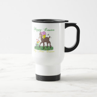 Happy First Easter Goat 15 Oz Stainless Steel Travel Mug