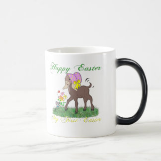 Happy First Easter Goat 11 Oz Magic Heat Color-Changing Coffee Mug