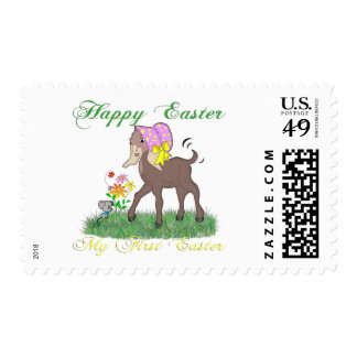Happy First Easter Goat Stamps