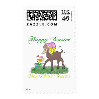 Happy First Easter Goat Postage