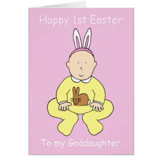 Happy First Easter Goddaughter. Card