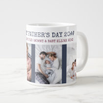 Happy First Fathers Day 4 Photo Giant Coffee Mug