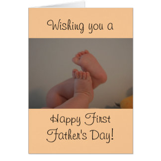 Happy First Father's Day Baby Toes Card