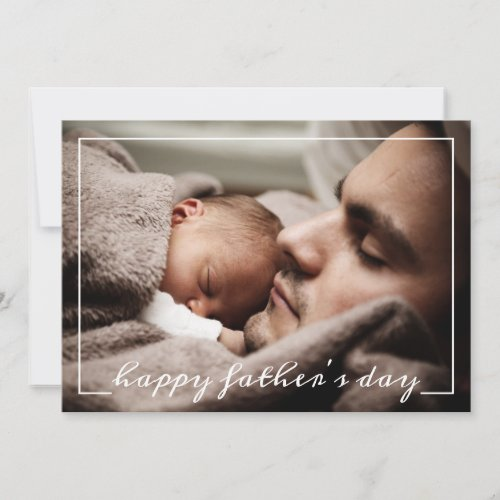 Happy First Fathers Day Custom Photo Card