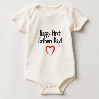 Happy First Father's Day Daddy! Baby Bodysuit