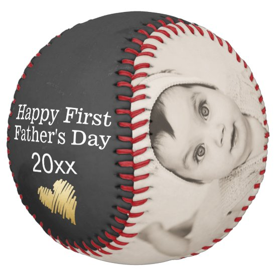 Happy First Fathers Day Personalized Custom Made Softball
