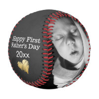 Happy First Fathers Day Personalized One of a Kind Baseball