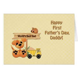 Happy First Father's Day, Toys Card