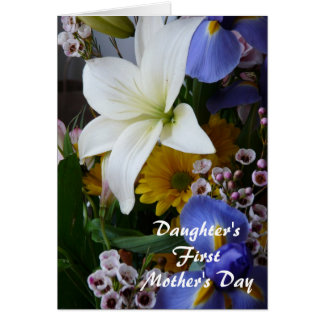 Happy First Mother's Day-Daughter-Pretty Floral Card