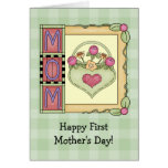 Happy First Mother's Day Greeting Cards Greeting Card