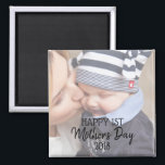 """Happy First Mother's Day Magnet<br><div class=""""desc"""">Beautiful magnet with your photo and """"Happy 1st Mother's Day 2018</div>"""