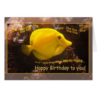 Happy Fish Blup-blup Greeting Card