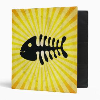 Happy Fish Bones; Yellow Binder