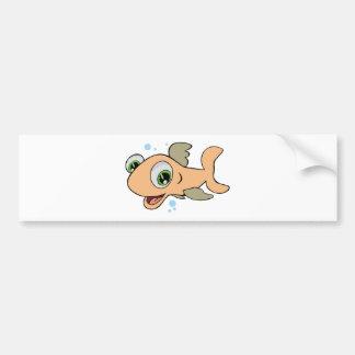 Happy Fish Bumper Sticker