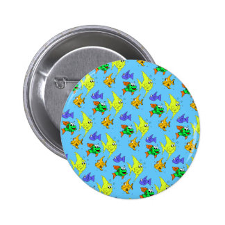 Happy Fish Pinback Buttons