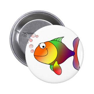 Happy Fish Pinback Button
