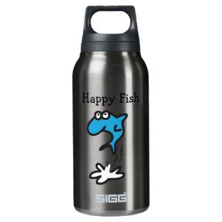 Happy Fish Insulated Water Bottle