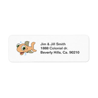 Happy Fish Label