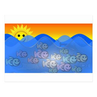 Happy Fish Postcard