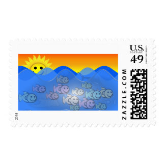 Happy Fish Stamp