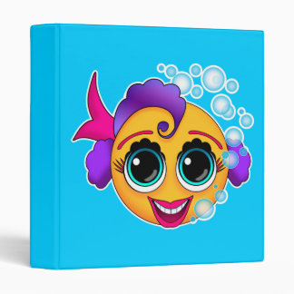 Happy Fish Vector Art Binder