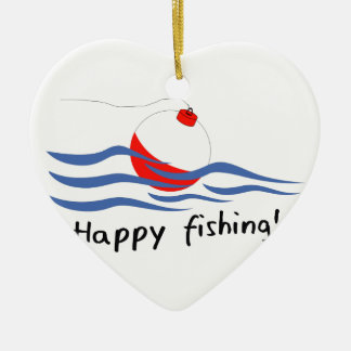 HAPPY FISHING CERAMIC ORNAMENT