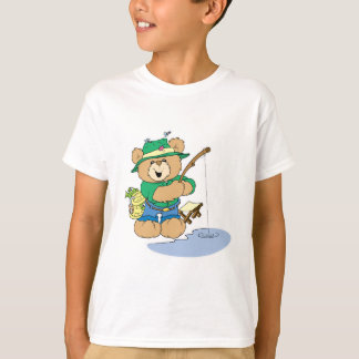 Happy Fishing Fisherman Bear T-Shirt
