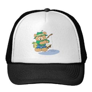 Happy Fishing Fisherman Bear Trucker Hat