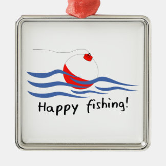 HAPPY FISHING METAL ORNAMENT