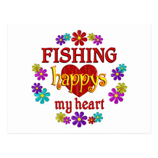 Happy Fishing Postcards