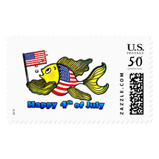 Happy fishy 4th of July US Stamp
