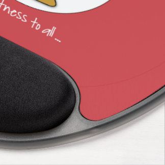 Happy Fitness Exercise Christmas with Santa Gel Mouse Pad